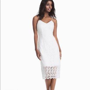 White house black market White lace slip dress
